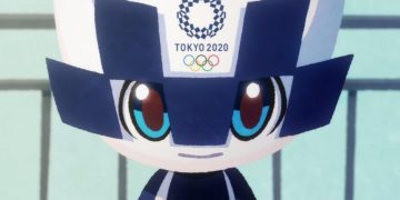 This is the promotional anime of the Tokyo Olympics, with its mascot in action