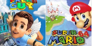 The amazing Free Guy posters that parody great games like Super Mario 64, Street Fighter, Doom ...