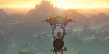 The Legend of Zelda Breath of the Wild: trick to fly with the parasail from the ground