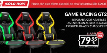 Get only today in GAME this incredible gaming chair with a discount of € 40 and for € 79.95