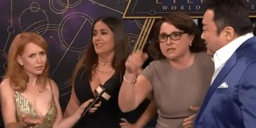 """""""Let everyone learn Spanish"""", that's how blunt Victoria Alonso, vice president of Marvel Studios, was at the premiere of Eternals"""