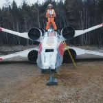 Russian fans build a life-size replica of a Star Wars X-wing in three months