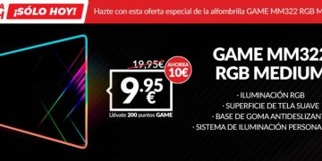 The best gaming mousepad, GAME MM322 RGB Medium, on sale only today at an incredible price